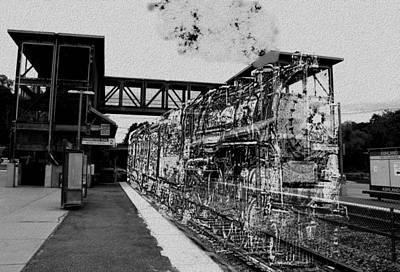 Digital Art - Train Delayed by Cliff Wilson