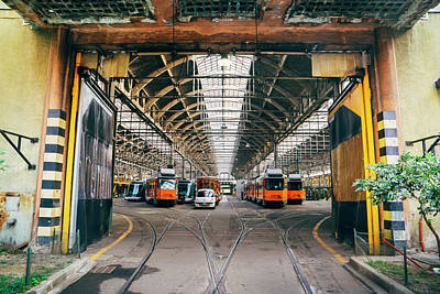 Photograph - Train Depot In Milan, Italy by Alexandre Rotenberg