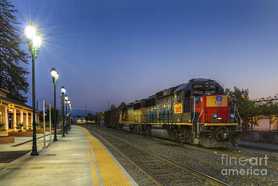 Photograph - Train Depot by Randy Wood