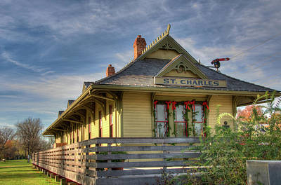 Photograph - Train Depot by Steve Stuller