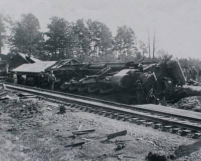Train Derailment Art Print