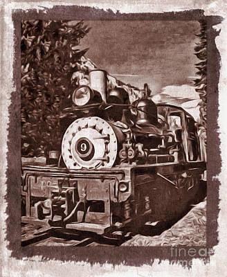 Photograph - Train Engine 9 by Steven Parker