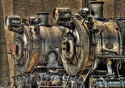Steam Punk Photograph - Train - Engine - Brothers Forever by Mike Savad