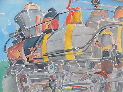 Painting - Train Engine by Rodger Ellingson