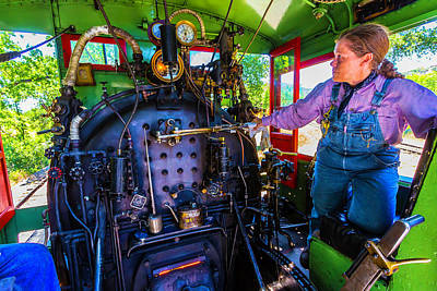 Overalls Photograph - Train Engineer by Garry Gay