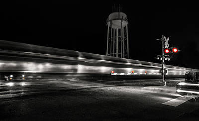 Photograph - Train Flashing by Art Cole