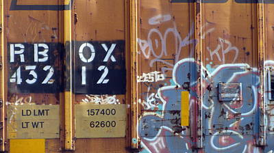 Photograph - Train Graffiti 1 by Anita Burgermeister