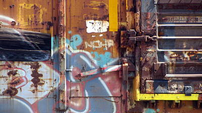 Photograph - Train Graffiti 2 by Anita Burgermeister