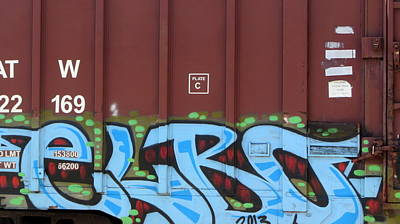 Photograph - Train Graffiti 5 by Anita Burgermeister