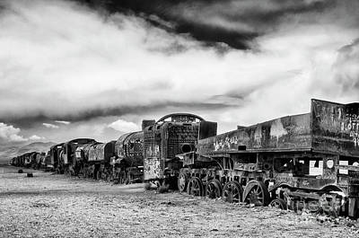Photograph - Train Graveyard Uyuni  Bolivia 2 by Bob Christopher