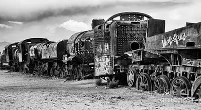 Photograph - Train Graveyard Uyuni  Bolivia 3 by Bob Christopher