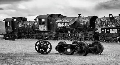 Photograph - Train Graveyard Uyuni  Bolivia 10 by Bob Christopher