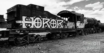 Photograph - Train Graveyard Uyuni  Bolivia 11 by Bob Christopher