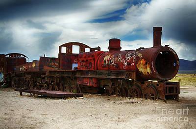 Photograph - Train Graveyard Uyuni Bolivia 12 by Bob Christopher