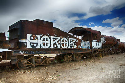 Photograph - Train Graveyard Uyuni Bolivia 13 by Bob Christopher
