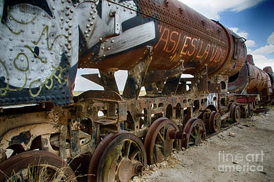 Photograph - Train Graveyard Uyuni Bolivia 14 by Bob Christopher