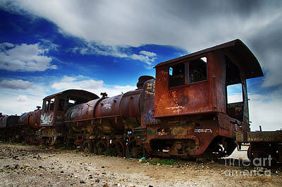 Photograph - Train Graveyard Uyuni Bolivia 15 by Bob Christopher