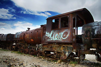 Photograph - Train Graveyard Uyuni Bolivia 16 by Bob Christopher