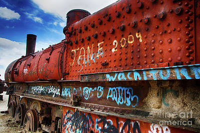 Photograph - Train Graveyard Uyuni Bolivia 17 by Bob Christopher