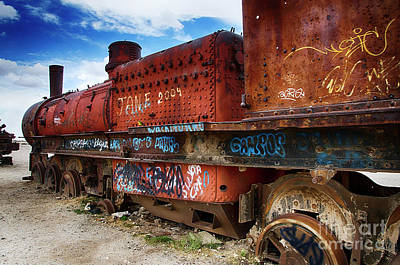 Photograph - Train Graveyard Uyuni Bolivia 18 by Bob Christopher