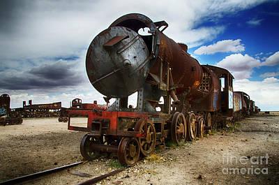 Photograph - Train Graveyard Uyuni Bolivia 19 by Bob Christopher