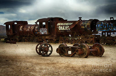 Photograph - Train Graveyard Uyuni Bolivia 20 by Bob Christopher