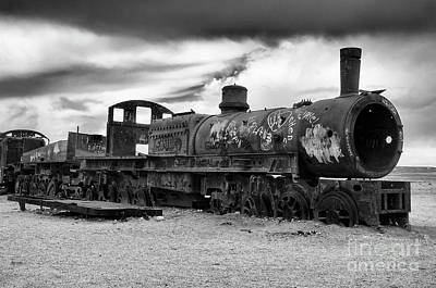 Photograph - Train Graveyard Uyuni  Bolivia 6 by Bob Christopher
