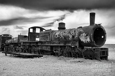 Photograph - Train Graveyard Uyuni  Bolivia 6 by Bob Christopher