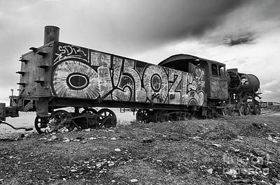 Photograph - Train Graveyard Uyuni  Bolivia 7 by Bob Christopher