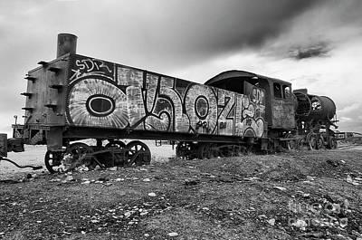 Photograph - Train Graveyard Uyuni  Bolivia 7 by Bob Christopher