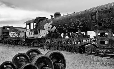 Photograph - Train Graveyard Uyuni  Bolivia 8 by Bob Christopher