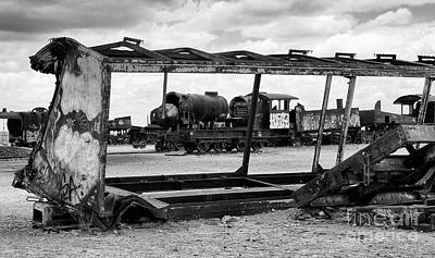 Photograph - Train Graveyard Uyuni  Bolivia 9 by Bob Christopher