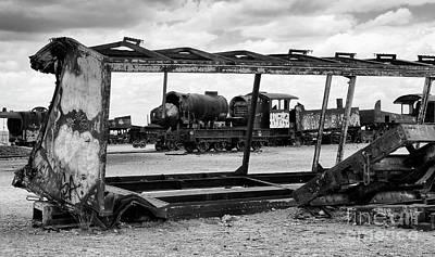 Photograph - Train Graveyard Uyuni  Bolivia 9 by Bob Christopher