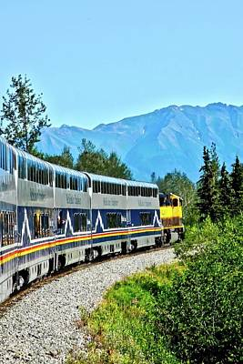 Photograph - Train In Alaska by Kirsten Giving