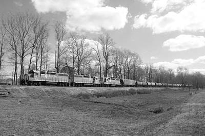 Photograph - Train In Black And White 20 by Joseph C Hinson Photography
