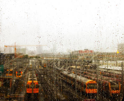 Train In The Rain Art Print