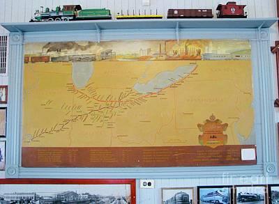 Photograph - Train Map by Michael Krek