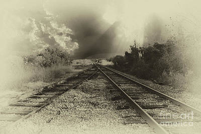 Photograph - Train Merge by Dale Powell