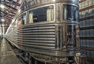 Rusted Cars Mixed Media - Train Of The Goddess Nebraska Zephyr End Car by Thomas Woolworth