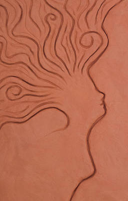 Clay Relief Relief - Train Of Thought by Alexandra Kiczuk