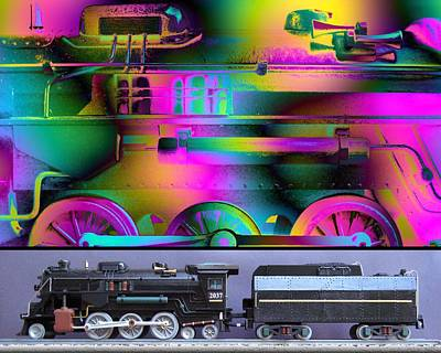 Steampunk Mixed Media - Train of Thought by Ken Shotwell