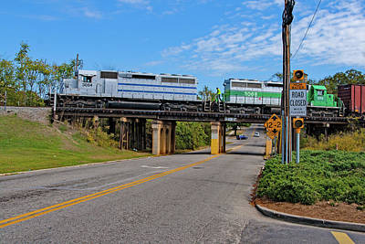 Photograph - Train On A Bridge 13 Color by Joseph C Hinson Photography