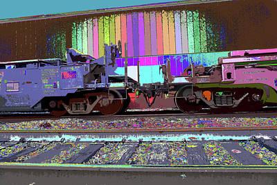Train Parked Art Print