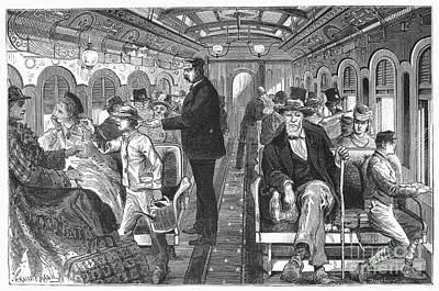 Train: Passenger Car, 1876 Art Print by Granger