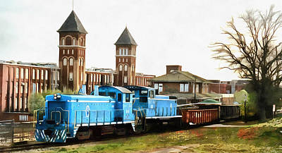 Photograph - Train Passes Old Springs Mills by Joseph C Hinson Photography