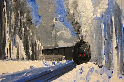 Painting - Train by Patricia Awapara