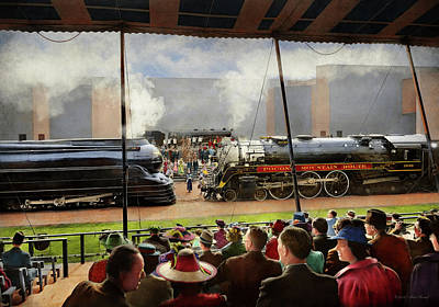 Photograph - Train - Railroad Pageant 1939 by Mike Savad
