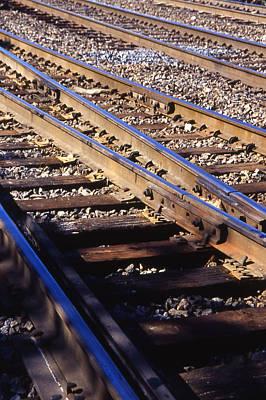 Train Rails Art Print by Randy Muir