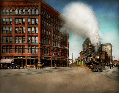 Photograph - Train - Respect The Train 1905 by Mike Savad