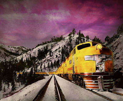 Photograph - Train - Retro - Travel With Style 1940 by Mike Savad